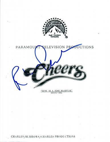 Rhea Perlman Signed Autographed CHEERS Pilot Episode Script COA AB