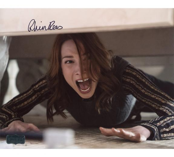 Rhian Rees Autographed 8×10 Halloween Photo Under Bed