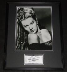 Rhonda Fleming Signed Framed 16x20 Photo Poster Display B