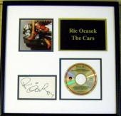 Ric Ocasek autograph framed & matted with The Cars CD 11x18