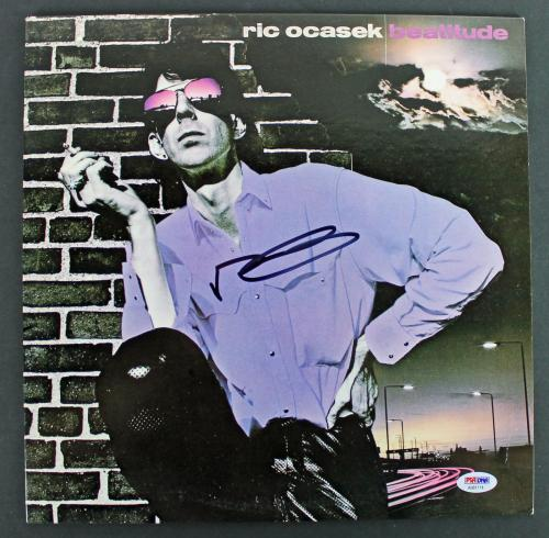 Ric Ocasek Cars Signed 'Beatitude' Album Cover W/ Vinyl PSA/DNA #AB81114