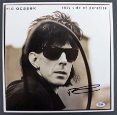 Ric Ocasek Cars Signed 'This Side of Paradise' Album Cover W/ Vinyl PSA #AB81116