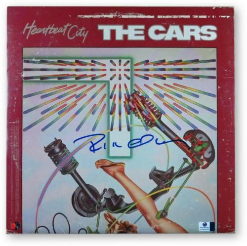 Ric Ocasek Signed Autographed Album Cover The Cars Heartbeat City JSA U16613