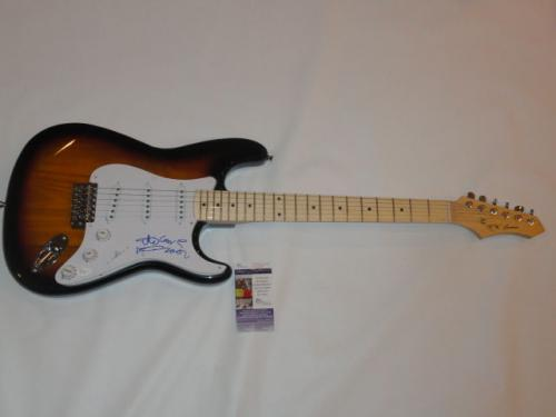 Ric Ocasek Signed Sunburst Electric Guitar The Cars Legend Jsa Coa