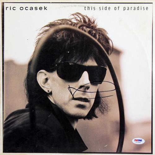 Ric Ocasek Signed This Side Of Paradise Album Cover W/ Vinyl PSA/DNA #U52995