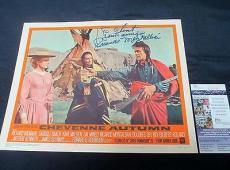 Ricardo Montalban Signed Cheyenne Autumn Lobby Card JSA COA