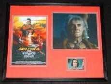 Ricardo Montalban Signed Framed 16x20 Photo Set Star Trek Wrath of Khan