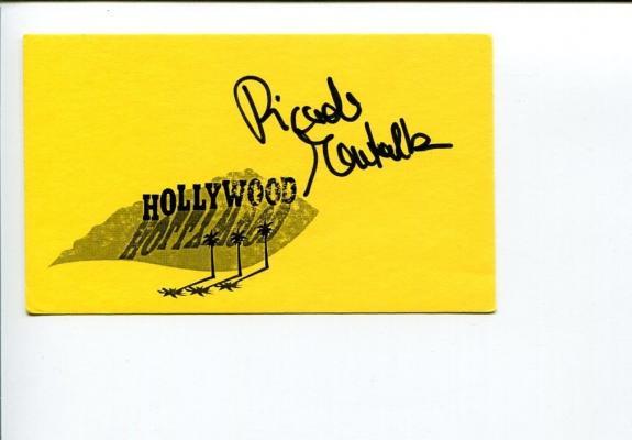 Ricardo Montalban Star Trek Fantasy Island Signed Autograph