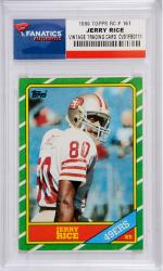 Jerry Rice San Francisco 49ers 1986 Topps #161 Rookie Card - Mounted Memories