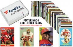 Jerry Rice San Francisco 49ers Collectible Lot of 20 NFL Trading Cards - Mounted Memories
