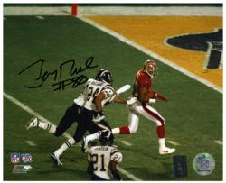 Jerry Rice San Francisco 49ers Super Bowl XXXIV Autographed 8'' x 10'' Horizontal Running for Touchdown Photograph - Mounted Memories