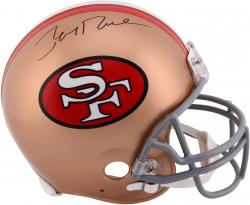 Signed Jerry Rice Helmet - Pro Line Riddell Authentic Throwback Mounted Memories