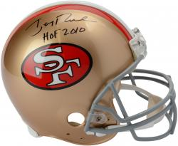 "Jerry Rice San Francisco 49ers Autographed Pro-Line Riddell Authentic Helmet with ""HOF 10"" Inscription"