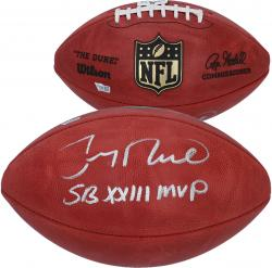 Jerry Rice San Francisco 49ers Autographed Wilson Pro Football with SB XXIII MVP Inscription - Mounted Memories
