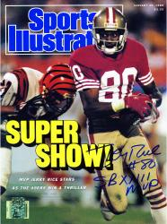 Jerry Rice San Francisco 49ers Autographed Sports Illustrated Magazine with SB XXIII MVP Inscription - Mounted Memories