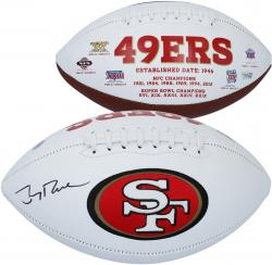 Jerry Rice San Francisco 49ers Autographed White Panel Football - Mounted Memories