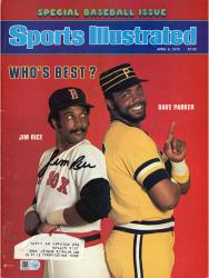 MOU REDSOX SI JIM RICE AUT MAGAZINE MLB COLAUT - Mounted Memories