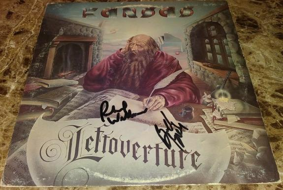 Rich Richard Williams & Billy Greer Kansas Signed Autographed Album Cover W/coa