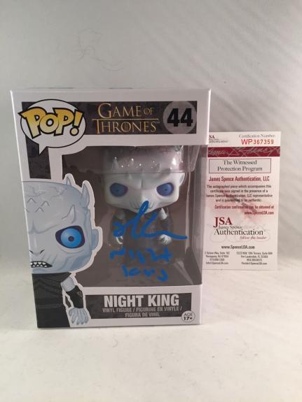 Richard Brake Signed Game Of Thrones Night King Funko Pop Jsa 3