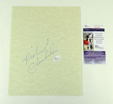 Richard Chamberlain Signed 8x10 Blank Card Ideal for Display JSA Auto
