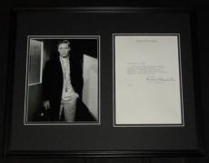 Richard Chamberlain Signed Framed Typed Letter & Photo Display JSA Dr. Kildare