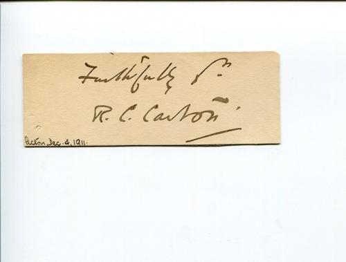 Richard Claude Critchett Carton British Actor Playwright Signed Autograph
