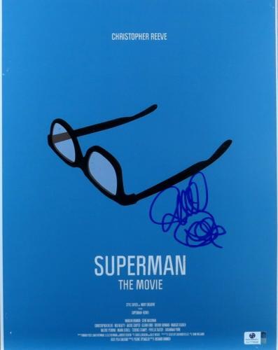 Richard Donner Autographed 11X14 Photo Superman Promo Poster Director JSA U16735