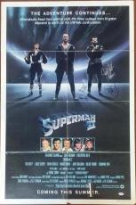 Richard Donner Margot Kidder Douglas Mankiewicz Signed Superman 2 Poster PSA/DNA