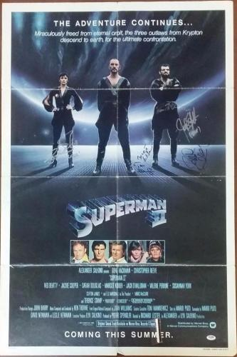 Richard Donner Margot Kidder Douglas Mankiewicz Signed Superman 2 Poster PSA/DNA