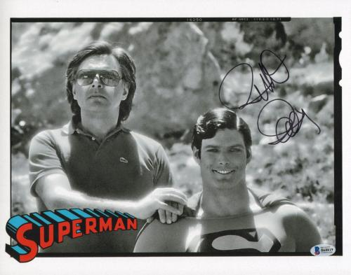 Richard Donner Signed 11x14 Photo BAS COA Superman Picture w/ Christopher Reeve