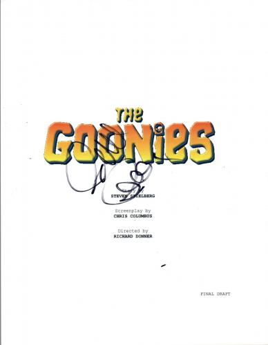 Richard Donner Signed Autographed THE GOONIES Full Movie Script COA VD