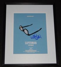 Richard Donner Signed Framed 11x14 Superman Photo Poster JSA