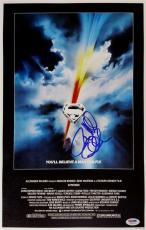 Richard Donner Signed Superman The Movie 11x17 Canvas Photo Director Psa