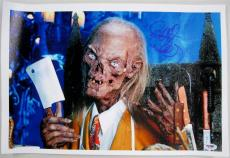 RICHARD DONNER SIGNED Tales From The Crypt 11X17 CANVAS PHOTO DIRECTOR PSA