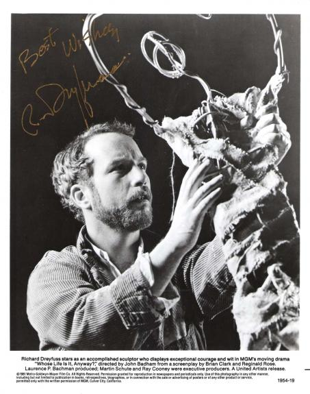 "RICHARD DREYFUSS as KEN HARRISON in ""WHOSE LIFE IS IT ANYWAY?"" Signed 8x10 B/W Photo"