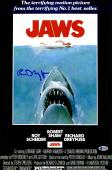 "Richard Dreyfuss Autographed 12"" x 18"" Jaws Movie Poster - BAS COA"