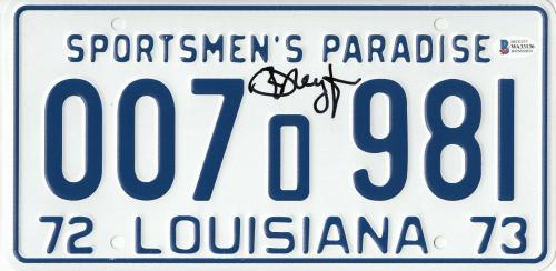 Richard Dreyfuss Autographed Jaws Signed License Plate Prop Beckett Bas Coa 46