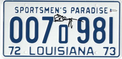 Richard Dreyfuss Autographed Jaws Signed License Plate Prop Beckett Bas Coa 57