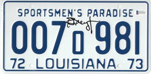 Richard Dreyfuss Autographed Jaws Signed License Plate Prop Beckett Bas Com 48