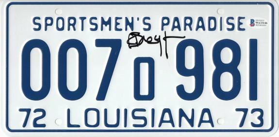 Richard Dreyfuss Autographed Jaws Signed License Plate Prop Beckett Bas Com 50