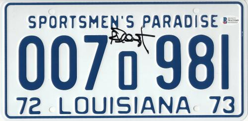 Richard Dreyfuss Autographed Jaws Signed License Plate Prop Beckett Bas Com 54