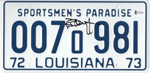 Richard Dreyfuss Autographed Signed Jaws License Plate Prop Beckett Bas Coa