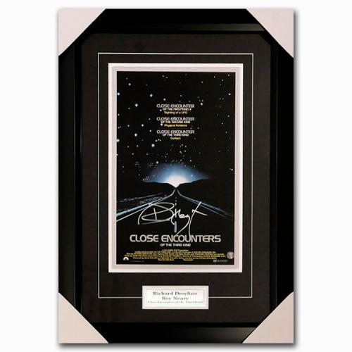 Richard Dreyfuss Framed Autographed 'Close Encounters of the Third Kind' 11X14 Poster