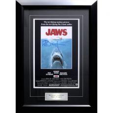 Richard Dreyfuss Framed Autographed 'Jaws' 11X14 Poster