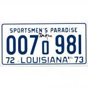 Richard Dreyfuss Jaws Autographed Sportsmen's Paradise Louisiana License Plate - BAS