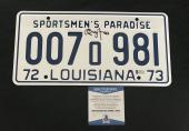 Richard Dreyfuss Signed Auto Jaws License Plate Beckett Witness Bas Coa 1