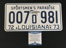 Richard Dreyfuss Signed Auto Jaws License Plate Beckett Witness  Bas Coa 17