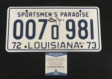 Richard Dreyfuss Signed Auto Jaws  License Plate Beckett Witness Bas Coa 6