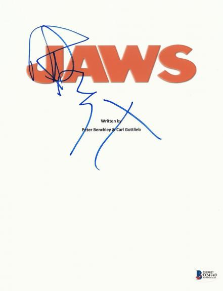 Richard Dreyfuss Signed Autographed Jaws Full Movie Script Beckett Bas Coa
