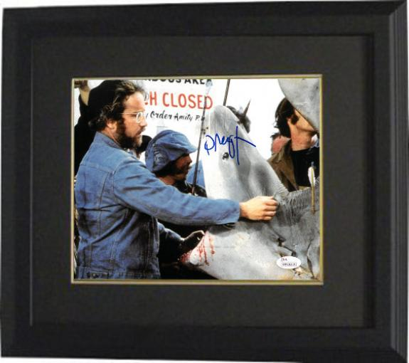 Richard Dreyfuss signed Jaws 8x10 Photo Custom Framing - JSA Witnessed Hologram (Shark w/ Open Mouth)